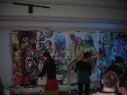 Deux fresques murales ont été réalisées lors de la soirée