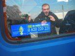 Petit autocollant restant sur nos camionettes, anciennements véhicules de gendarmerie!