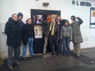 L'équipe devant l'Ostra, à Nancy