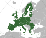 European Union and Switzerland map (based on http://commons.wikimedia.org/wiki/File:European_Union_(orthographic_projection).svg , released under a Creative Commons Attribution-ShareAlike 3.0 licence)