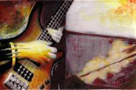 Illustration à base de peinture sur photo réalisée par Tomasito pendant son séjour en Espagne